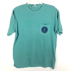 Comfort Colors Water's Bluff Teal Prep Men T-shirt